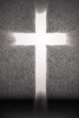 Bright Cross on grey