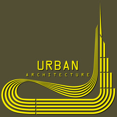 urban architecture vector icon