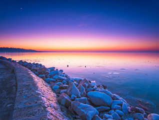 Sunset over lake Balaton