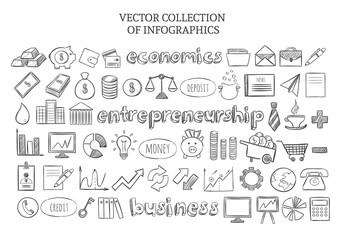 Infographic Economics Elements Set