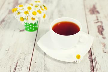 Chamomile tea in a mug