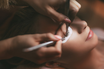 Procedure Eyelashes Extension