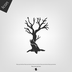 Dry tree vector icon