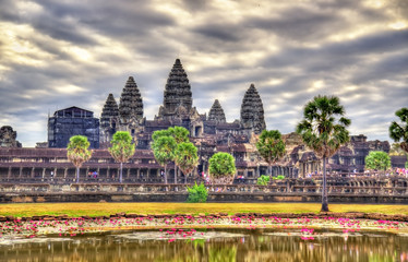Sunrise at Angkor Wat, a UNESCO world heritage site in Cambodia