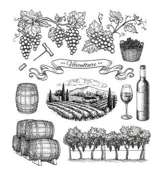 Viticulture big set.