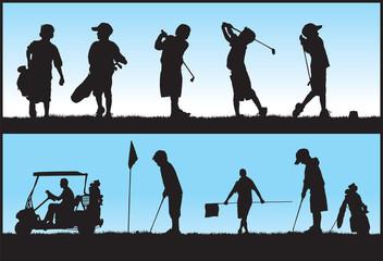 Kids Golfing