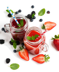 Antioxidant summer berry smoothies.