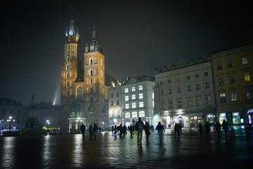 Beautiful Krakow at night