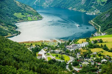 Wall Mural - Geiranger Panorama Norway