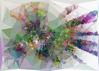 Abstract multicolor mosaic backdrop. Vector clip art.