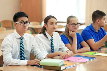Classmate friends in classroom