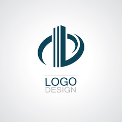 round building abstract logo vector