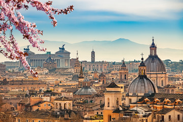 Fotomurales - View of Rome from Castel Sant'Angelo