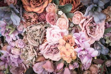 Flower background - vintage effect style