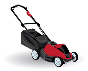 mower machine vector design