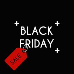 Black friday Sale on the black background.