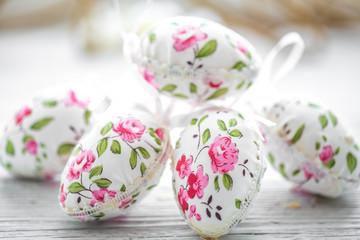 Easter eggs closeup