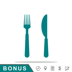 icon fork and knife