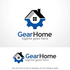 Gear Home Logo Template Design Vector