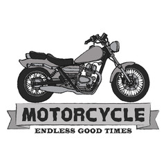 Motorcyle SIDE view HAND DRAWING