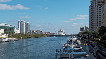 Garrison Channel next to the Port of Tampa and Harbot Island, Florida