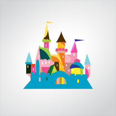 Vector Illustration of Fairytale castle