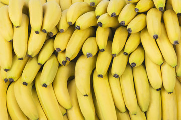 Pile of fresh bananas