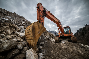 excavator for earth moving