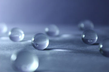 Transparent balls. Abstraction.