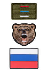Flag patch, patch bear