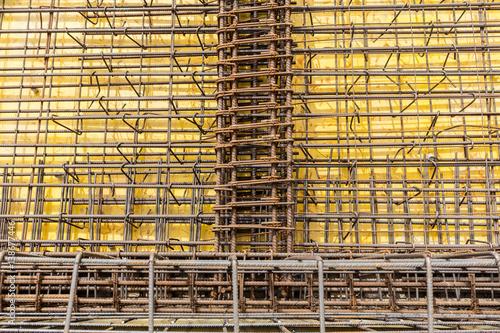 Bau Baustelle Tiefbau Drahtgeflecht Eisenbieger\