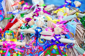 Straw dolls. Traditional Russian folk Souvenirs 2