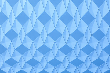 Geometric background with diamond structure in blue tone.