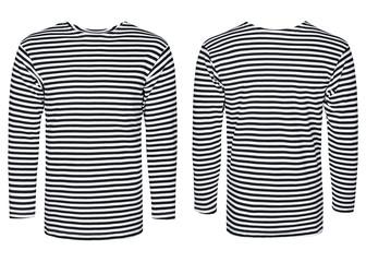 Marine vest, striped shirt