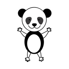 colorful picture cute panda animal vector illustration