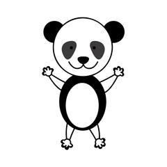 colorful picture cute panda animal vector illustration