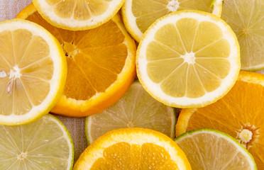 Background image of orange and lemon slices