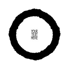 Black circle. Isolated vector object on white background.