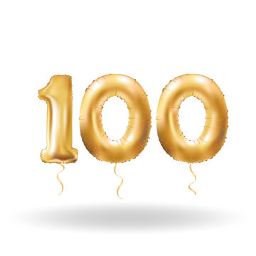 number hundred metallic balloon