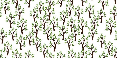 Trees seamless pattern