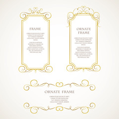 Template design frame.
