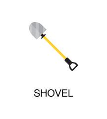 Shovel flat icon.