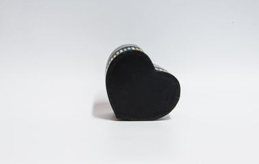 Black heart shape box on white background.