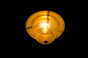 luminous street lantern in the night