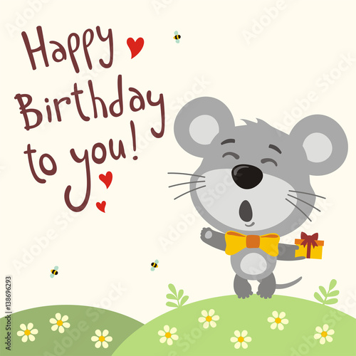 """""""Happy Birthday To You! Funny Mouse Sings Birthday Song"""