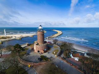 Foto auf AluDibond Leuchtturm Lighthouse on the baltic seashore
