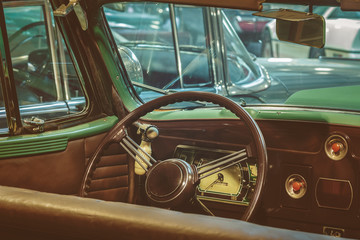Dashboard of a classic car