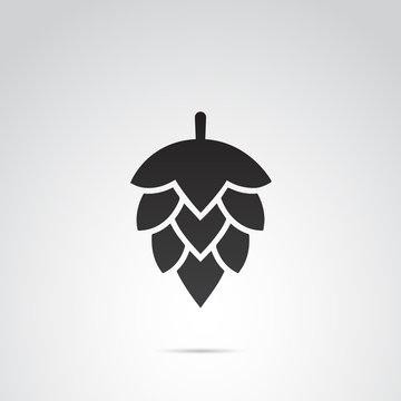 Hop vector icon.