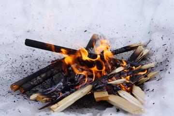 Burning doll Maslenitsa celebration in the Russian Orthodox rite