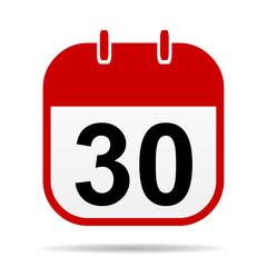 30 calendar icon